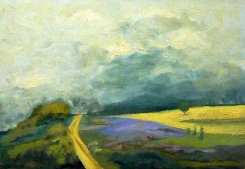 2_Trail, 2009, oil on wood, 64X45