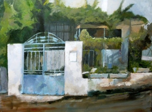 5_Blue Gate, 2012, Oil on Canvas 77X62