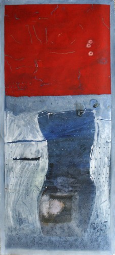 05-Dress-,Series-2012,oil-on-primed-unstretched-canvas-220X90-cm-,-nis-16000