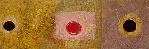 Sound-Whisper-[10],from-series,2005-2009,oil-on-canvas,125x45x5-cm