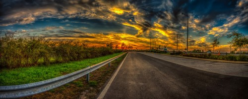 Hungarian-Highway-at-sunset