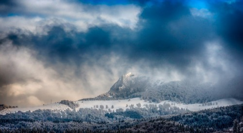 Snow-and-clouds