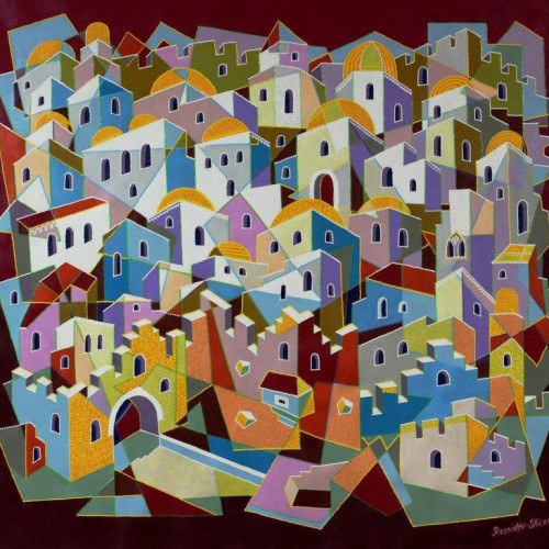 Composition--Jerusalem---mixed--technics-on--canvas--98x-110cm
