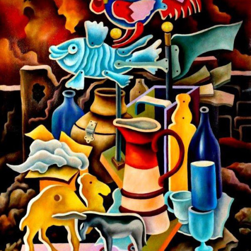 Composition------Still-life-----oil----on--canvas--100x-80cm