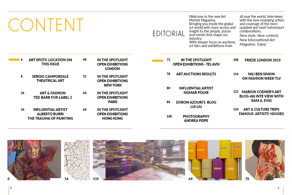 Art Market- Table of content