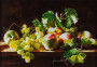 Still-life-with-peaches-and-grapes-in-sunlight